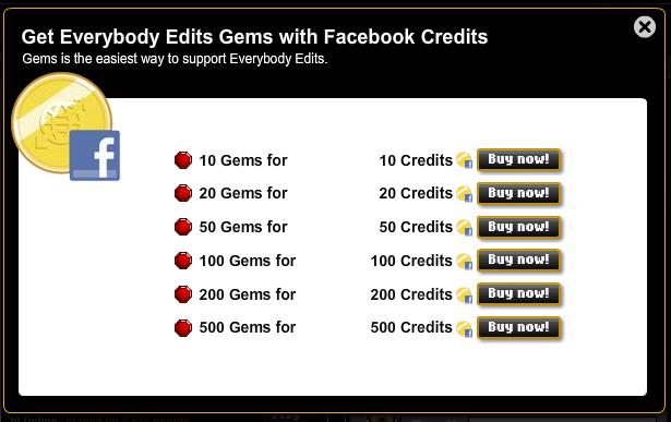 Facebook credits integration